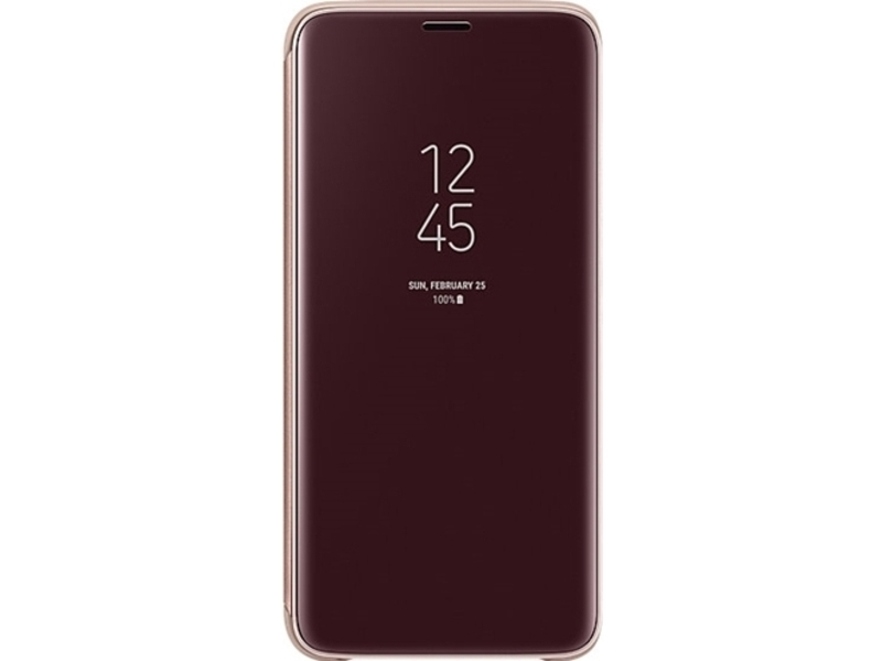 Samsung Clear View Standing Cover for Samsung Galaxy S9 - Black - Klar