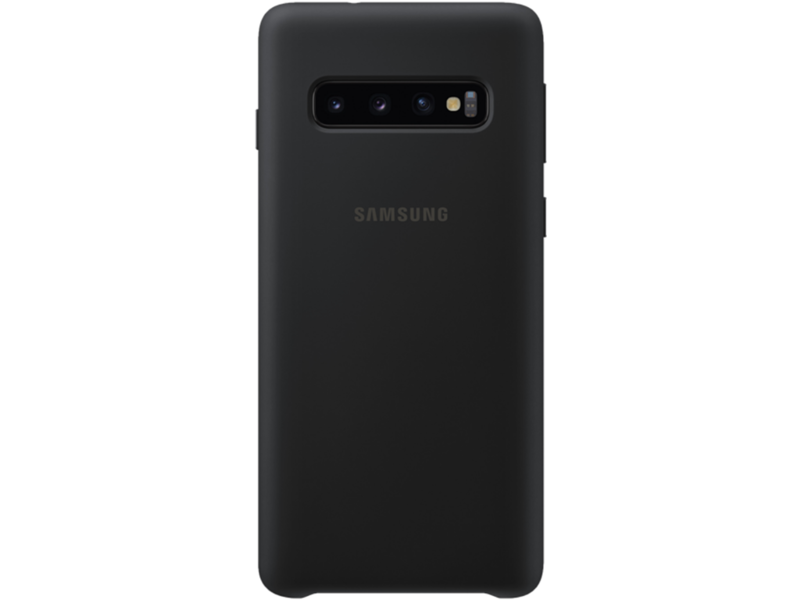 Samsung Silicone Cover for Galaxy S10 - Black - klar